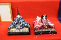おひなさま ~西陣織の正絹金襴(有職生地)で制作~ 少ないスペースで飾る良い雛です