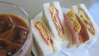 Mサンド付の350円モーニング【喫茶 あいかむ】