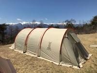 初めての陣馬形山へキャンプ