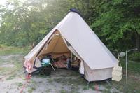 ささゆりの湯キャンプ場にソロキャンプ