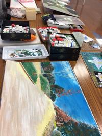 絵画自主講座の様子 岡崎シビックセンター