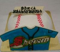 野球☆立体デコレーションケーキ 2016/10/03 20:10:38