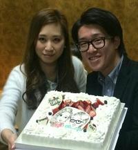 Happy Wedding似顔絵ケーキ