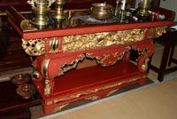 豊田の寺院の大きな机が完成しました