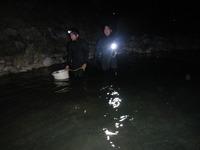 ダム湖の夜釣り