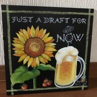 夏はビールとひまわり!