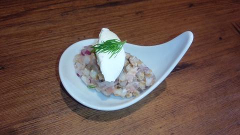 チャコールの前菜の一つスペルト小麦のサラダの秘密