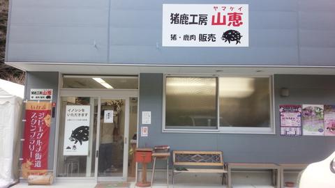 足助の猪の解体所 山恵さんに猪を買いに行きました