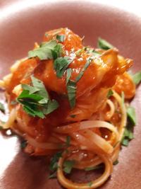 オマール海老のトマトソースのパスタ