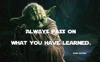 Always pass on...