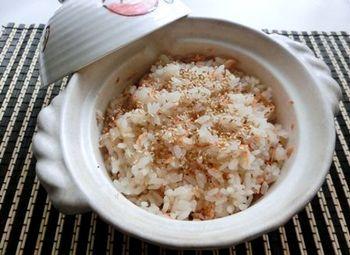 一人土鍋で炊き込みご飯