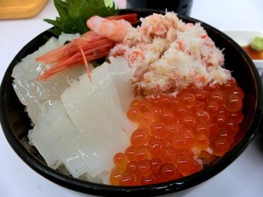 海鮮丼(函館朝市栄屋) 北海道物産展第2弾