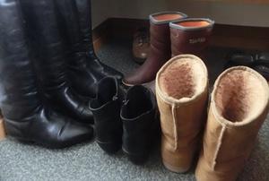 雪の日のお出かけ靴の悩み