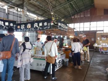 師崎漁港朝市→海→さかな広場→まるはドライブイン見学