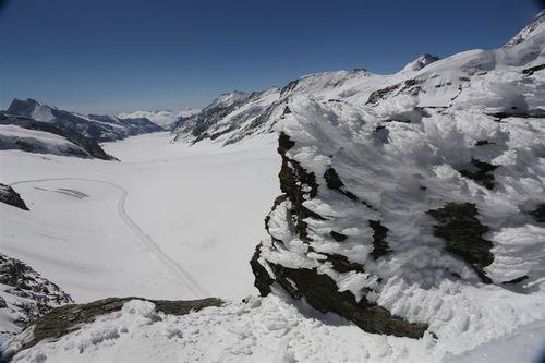 3454mからの氷河