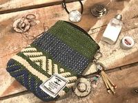 新入荷、手織りミニポーチ