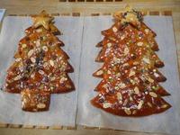 クリスマスツリー形の食べれる特大パン