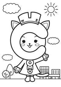 コモにゃんぬりえをしよう♪ 2015/11/15 10:10:00