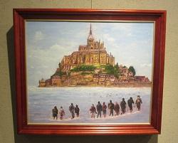 前林交流館パレットの会の絵画展示