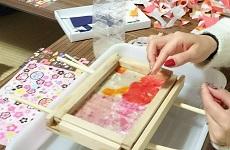 小原和紙を使ってハガキを作りませんか?