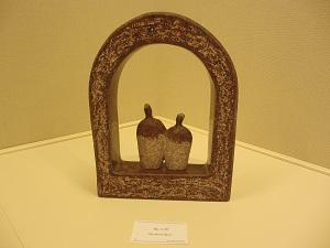 豊田画廊で尾崎慎石彫展開催中