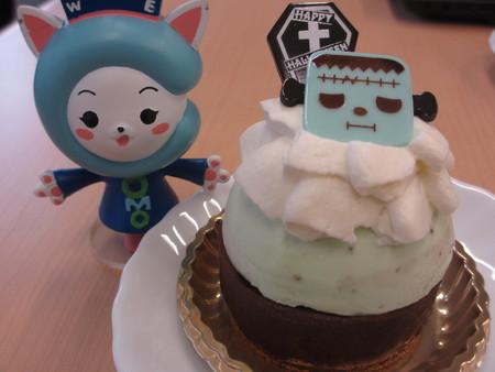 ハロウィンケーキにご満悦!!