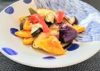 コストコのたまねぎ酢とカンタン酢を使って焼き夏野菜のマリネ
