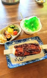 滝川ふれあい工房の五平餅とお漬け物とかき氷(豊田市)