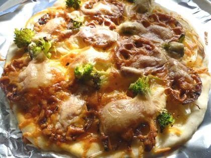 きんぴらレンコンの和風ピザ