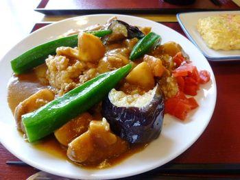 『夏野菜カレー』 下市場食堂へまた行っちゃった