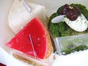 サテンドールのプチケーキ3種