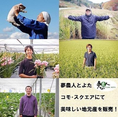 夢農人 豊田市駅前 コモスクエアに初出店!!