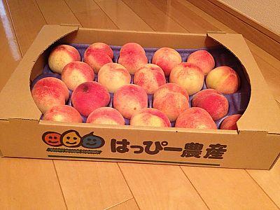 はっぴー農産さんの桃 最終便ゲット♪