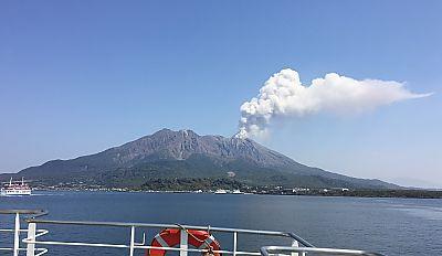 九州旅行1日目③鹿児島散策 桜島 めっけもん 白熊