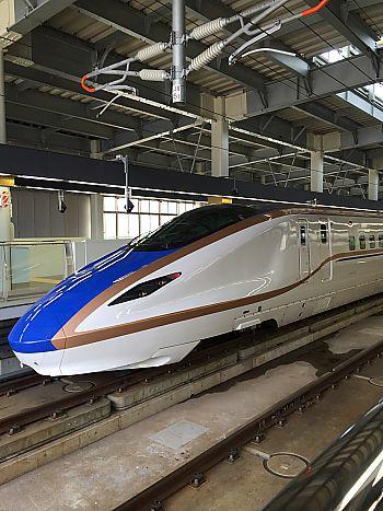かがやき新幹線を見に金沢駅まで行ってきました
