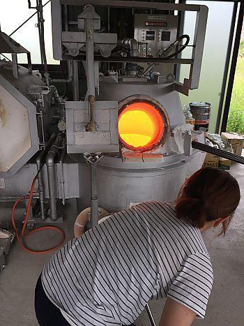 リサイクルガラス工房cocoroさんで吹きガラス体験してきました(豊田市)