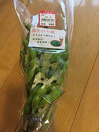 湯あがり娘  美味しい枝豆   産直プラザ (豊田市)