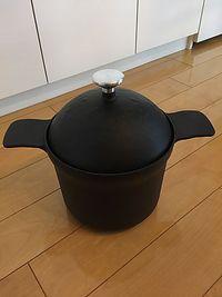 ふるさと納税で鋳鉄製ごはん釜 5合炊き  桑原鋳工  (桑名市)