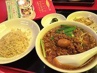 ランパス11⑪味珍で台湾ラーメンと半チャーハンセット(豊田市)
