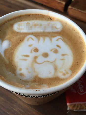 ご褒美に!カフェバスノンちゃんのカフェラテ♪(豊田市駅前)