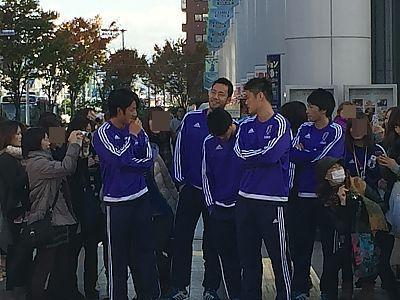 サッカー日本代表豊田市駅前は騒然!!!2014