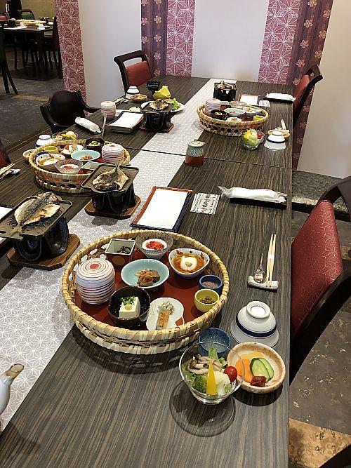 修善寺旅行⑤〇久(まるきゅう)旅館朝食