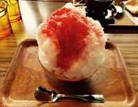 豊田市 足助町のカフェ☆バンバン堂で、贅沢いちごのかき氷!