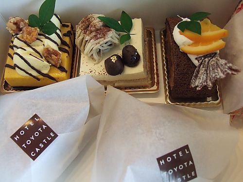 トヨタキャッスルホテルのケーキ