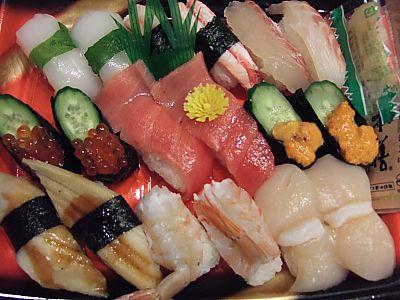 松坂屋のお寿司