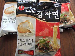 カムジャ麺(韓国ラーメン)