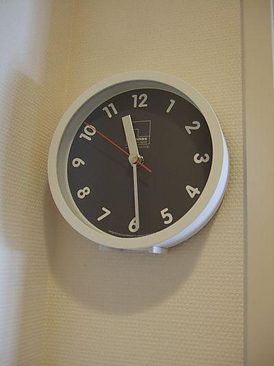 トイレに時計♪