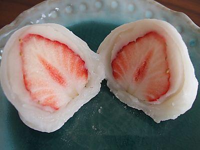 手作り苺大福!