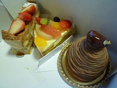 アンリシャルパンティエのケーキたち