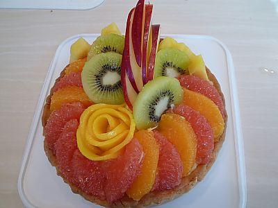 お菓子教室ソレイユでフルーツタルト作ったよ♪(豊田市)